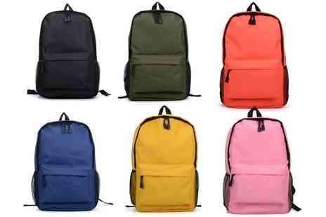 Groupon Goods Global GmbH - Classic Padded Canvas Backpack in Choice of Colour - Save 0%