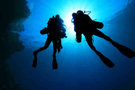 Divemaster Scuba - James Bond scuba diving experience for two people with DPV underwater scooters - Save 50%
