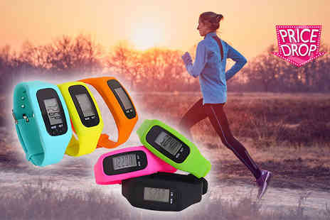Toy Meets World - 4 in 1 fitness tracker choose from blue, yellow, orange, pink, green or black - Save 78%