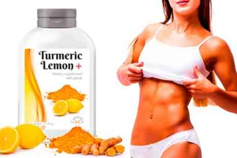 Groupon Goods Global GmbH - 60, 120, 240, 480 or 720 Cure Turmeric Lemon Supplement Capsules - Save 65%