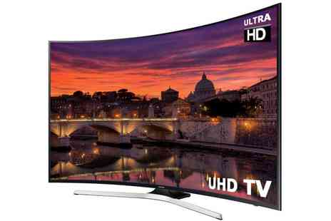 Groupon Goods Global GmbH - Samsung 49 Inch Curved Led Smart TV 4K UltraHD With Free Delivery - Save 15%