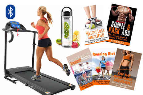 Blue Unplugged - 600W electric treadmill with bottle and five e books or include Bluetooth - Save 0%