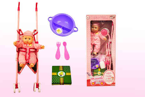Toys Wizard - Baby doll and pram set - Save 65%