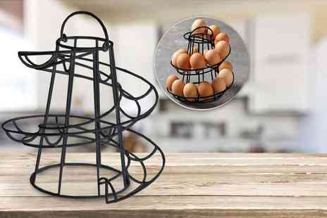 Home Empire - Spiral egg holder choose from black or white - Save 70%