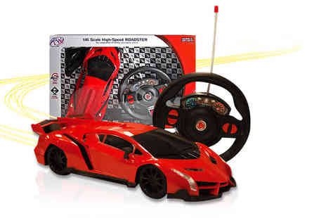 Toys Wizard - Remote controlled toy sports car choose from three colours - Save 60%