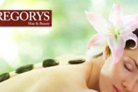 Gregorys Hair and Beauty - One Hour Hot Stone, Aromatherapy or Swedish Massage - Save 70%