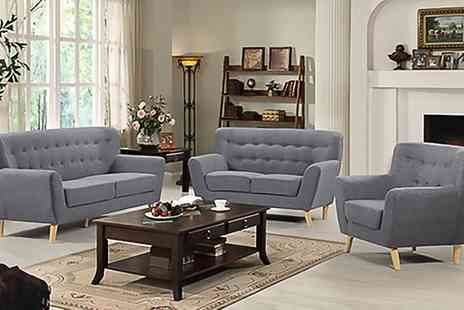 Groupon Goods Global GmbH - Lichfield One, Two or Three Seater Modern Sofa With Free Delivery - Save 10%