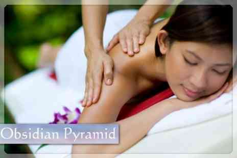 Obsidian Pyramid - Choice of Thai Taster Massage or Back Massage Plus Thai Foot Massage - Save 63%