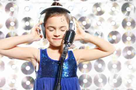 Star for a Day - 45 minute kids recording studio party for up to five children including a photoshoot and CD - Save 72%