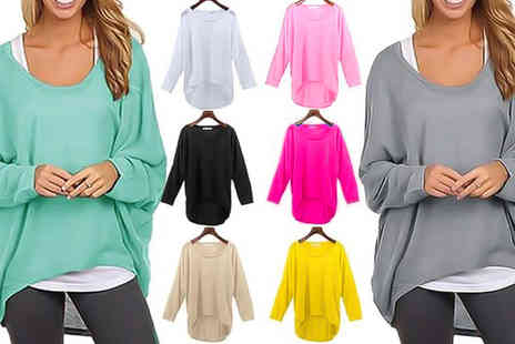 Verso Fashion - Oversized batwing top - Save 65%