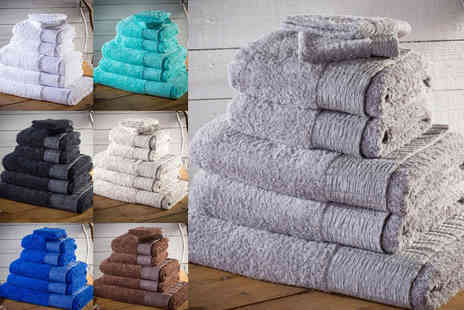 Groundlevel - Seven piece hotel grade 500gsm Egyptian cotton towel bale - Save 86%