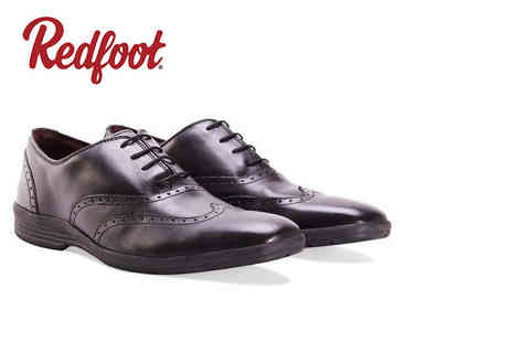 Shoeprimo - Pair of mens cushioned leather Oxford or Gibson shoes - Save 67%