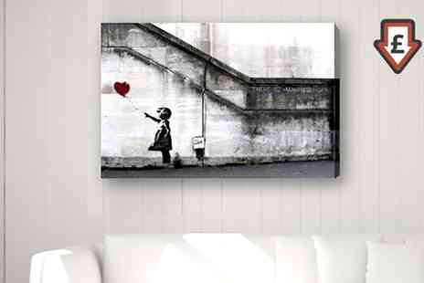 Groupon Goods Global GmbH - Banksy Canvas in Choice of Four Prints and Sizes - Save 68%