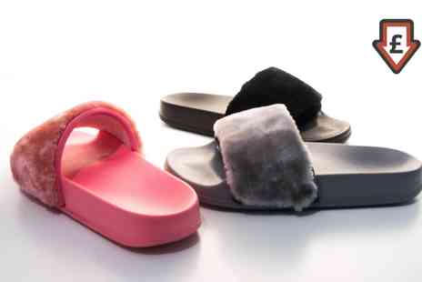 Groupon Goods Global GmbH - Faux Fur Fluffy Sliders  - Save 0%