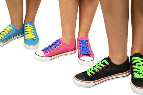 Groupon Goods Global GmbH - Carlton London Raine Womens Flat Low Top Trainers - Save 63%