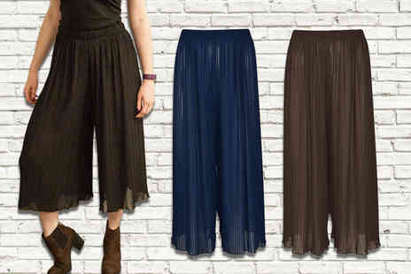 Verso Fashion - Pair of pleated culottes - Save 55%