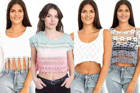 Verso Fashion - Boho top select from six different designs in UK sizes 6 To 14 - Save 75%