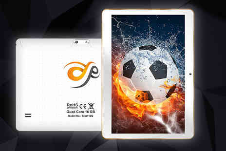 Infinity - 10.1 Inch 16GB Android Quad Core tablet with a limited number available choose from two colours - Save 72%