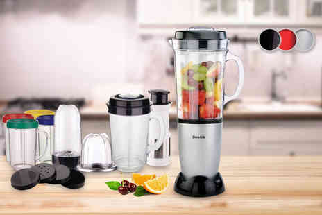 Zoozio - 21 piece Sentik kitchen blender choose black, silver or red - Save 74%