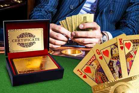London Exchain Store - Pack of 24k gold plated playing cards - Save 77%