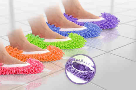 Fakurma - Pair of mop slippers available in five colours - Save 80%