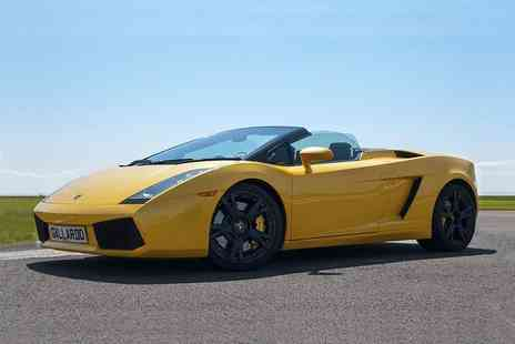 Supercar Test Drives - Three, six or nine lap supercar experience choose from eight locations across the UK - Save 74%