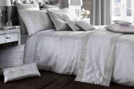 Groupon Goods Global GmbH - Onyx Rhinestone Finish Duvet Set or Matching Curtains - Save 60%