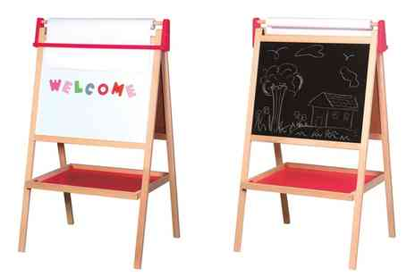 Groupon Goods Global GmbH - Lelin Two in One Magnetic and Chalkboard Easel - Save 0%