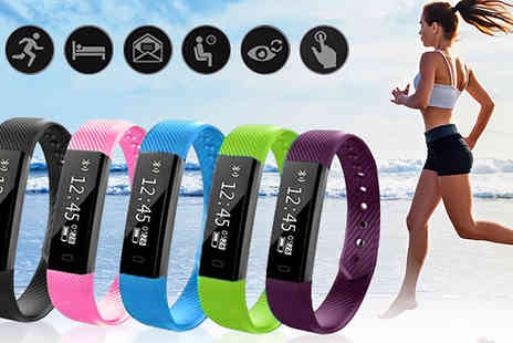 ugoagogo - 14 in 1 Elite Fitness Tracker Bracelet Available in Five Colours - Save 90%