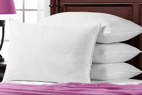 Groundlevel - Set of four luxury goose feather and down pillows - Save 85%