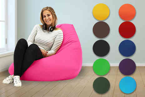 UK Beanbags - XL highback beanbag choose from 11 colours - Save 71%