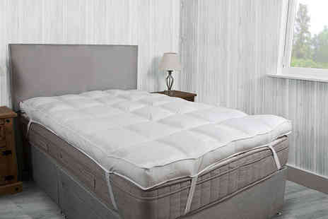 Groundlevel - 10cm microfibre luxury single mattress topper - Save 71%