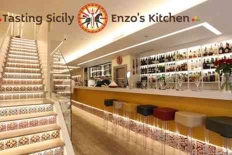 Tasting Sicily Enzos Kitchen - Two Course Italian Lunch for Two, Four or Six - Save 70%