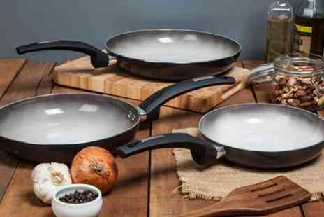 Groupon Goods Global GmbH - Tower Cerasure Two or Three Piece Frying Pan Set - Save 71%