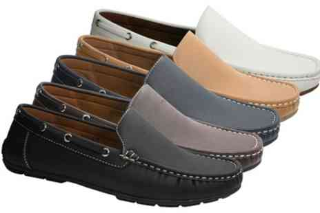 Groupon Goods Global GmbH - Mens Slip On Moccasin Shoes - Save 62%