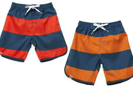 Groupon Goods Global GmbH - Boys Striped Boardshorts - Save 64%