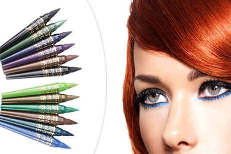 Richardson Group - Set of 6 Kajal Eyeliner Sticks in 2 Shades - Save 61%