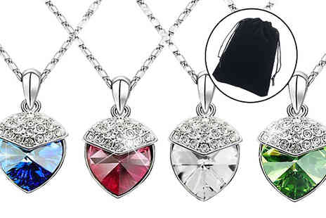 YEPKO - Crystal Strawberry Necklace Made With Swarovski Elements in 4 Colours - Save 78%