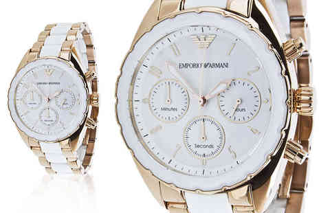 Gray Kingdom - Ladies Emporio Armani AR5942 watch treat your wrist - Save 73%