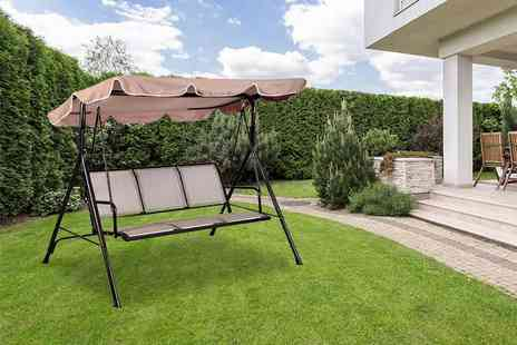 Product Mania - Three seater garden swing bench - Save 62%