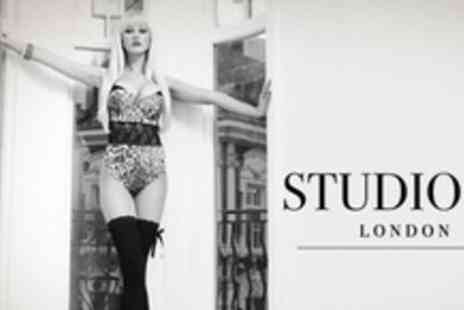 Studio 52 London - 1950s Themed Photo Shoot For Two With Mini Facial, Makeover, Print and Make Up Bag Each - Save 94%
