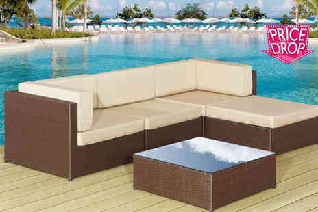 Rattan Trends - Rattan garden lounge set - Save 73%