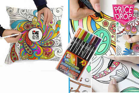 London Exchain Store - Graffiti pillowcase with 8 colouring pens - Save 82%