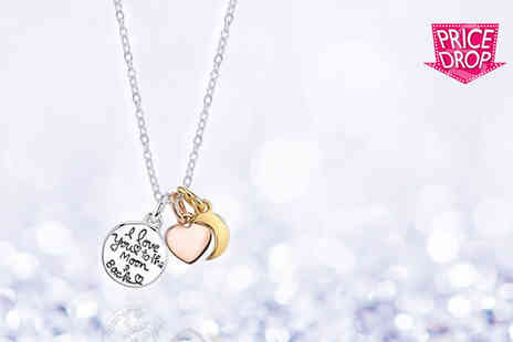 Solo Act - Charming I Love You to the Moon & Back necklace - Save 79%