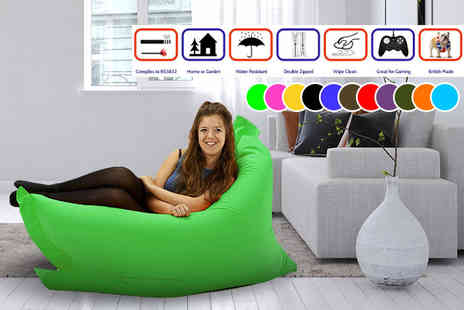 UK Beanbags - Large or Extra Large indoor and outdoor big brother beanbag choose from 11 colours - Save 75%