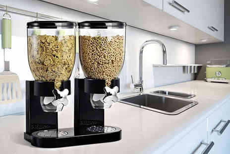 Chimp Electronics - Single or double cereal dispenser choose black or white and save up to 73% - Save 73%