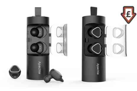 Groupon Goods Global GmbH - Apachie Stereo Dual Wireless Bluetooth Earphones - Save 66%