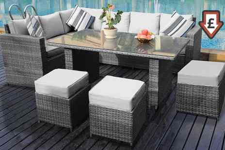 Groupon Goods Global GmbH - Barcelona Rattan Effect Collection in Choice of Colours - Save 0%