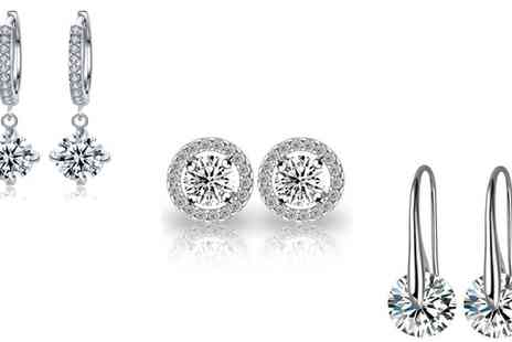 Groupon Goods Global GmbH - Earrings Made with Crystals - Save 78%