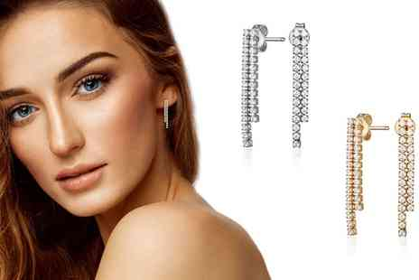 Neverland Sales - One or Two Pairs of Gigi Earrings with Crystals Include Free Delivery - Save 76%